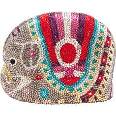 """Natasha"" Multi Diamante Elephant Clutch Bag - TK Maxx"