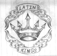 Chicago Based Gangs (continued)-- Gang and Security Threat Group Awareness Latin Kings Gang, King Picture, King Photo, Latin Kings Tattoos, Mafia, Minions, Him And Her Tattoos, Tattoo Photo, Crown Drawing