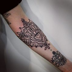 Ornamental tattoo.