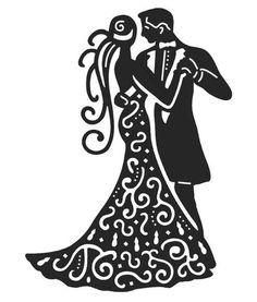 découpe couple de mariés pour scrapbooking carterie.... : Embellissements par didine45