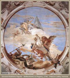 Giovanni Battista Tiepolo - Bellerofonte su Pegaso, 1746 - Palazzo Labia, Venezia