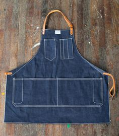 Womens Artisan Apron in Cone Selvage Denim | $145