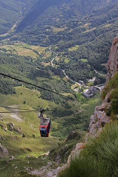 Fuente Dé Cable Ca, in Cantabria, (Spain). This little cable car soars impressively up (or down!) the sheer rock face for incredible views of the Picos de Europa (Peaks of Europe) mountain range. Spain Places To Visit, Oh The Places You'll Go, Santander Spain, Asturias Spain, Beautiful Sites, Spain And Portugal, Travel Memories, Mountain Range, Spain Travel