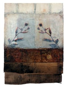 Each Other is an encaustic mixed media painting. The artist is Bridgette Guerzon Mills.