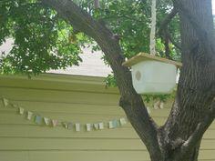 milk jug birdhouse