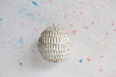 Rustic White Carved Bell