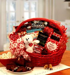 Everything you wanted without that extra sugar!!! A Happy Valentines gift box with sugar free cream candies   and a sweet I love You furry Teddy bear. Arranged in a cheerful red gloss basket and topped with a handmade Valentine bow.  SHOP NOW: www.KimsLabellabaskets.com