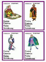 Middeleeuwen: werkbladen, materialen, gezelschapsspelen