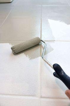 Painting ceramic tile via little green notebook | Home Organization ...