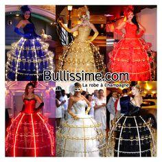 Bullissime : animation robe à champagne & cocktail.  Pour un service à champagne original lors de vos événements  www.bullissime.com