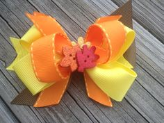 Thanksgiving Fall Hair Bow by glammygirlbowtique on Etsy, $8.00