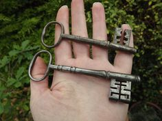 Antique Keys, Steampunk, Early 19th Century, Georgian, Home Decor, Old Keys, Steampunk Supplies, Old Keys, Lot of 2, Steel, ref 12-2-d by DecadentAndFabulous on Etsy