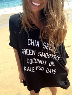 Health nut shirt_chia seeds green smoothies coconut oil kale for days t shirt
