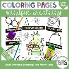 Social-emotional learning is important for all children. Help students practice using their mindful breathing in a fun, engaging way. Coloring is a great way to introduce a new concept, take a brain break, or reward a job well done. Product Information:This resource contains 10 coloring pages in bla...
