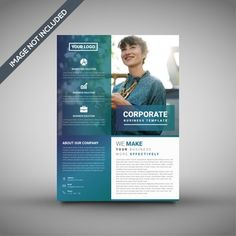 Flyer vectors, photos and psd files Corporate Flyer, Corporate Business, Business Design, Graphic Design Flyer, Flyer Design, Banner Vertical, Banners, Party Flyer, Dj Party