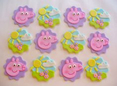 Hey, I found this really awesome Etsy listing at https://www.etsy.com/listing/268904415/12-peppa-pig-edible-fondant-cupcake