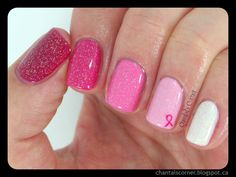 Pink ombre nails for Breast Cancer Awareness ~ Chantal's Corner