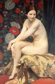 George Spencer Watson - Nude (1927) - Art Curator & Art Adviser. I am targeting the most exceptional art! Catalog @ http://www.BusaccaGallery.com