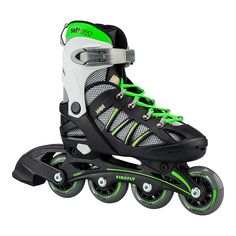 No Fear Edge Inline Skates 4 Wheel Roller Blades Skating Junior Boys