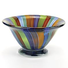 Badash Art Glass Rainbow  Bowl D7X45 -- Want additional info? Click on the image.