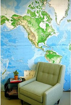 map wall mural @ urban outfitters