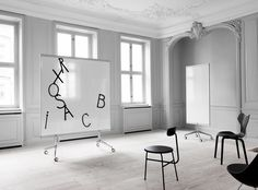 Download the catalogue and request prices of M3 mobile whiteboard By lintex, magnetic office whiteboard with casters design Christian Halleröd, mobile whiteboards Collection