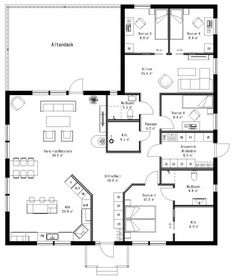 Add garage to the left + walk in pantry Dream Home Design, Modern House Design, My Dream Home, Little House Plans, House Floor Plans, Building Plans, Building A House, L Shaped House, House Drawing