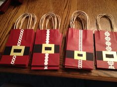 Gift card sized gift bags.