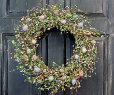 Easter+Wreath++Spring+Wreath++Muted+Pastel+Easter+by+Designawreath,+$66.95