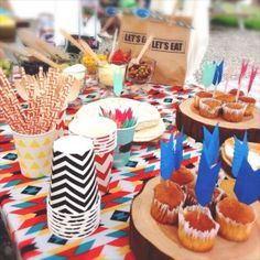 NATIVE AMERICAN THEMED|バースデーパーティー事例|誕生日|birthday|Little Lemonade|BBQ|3歳|男の子|女の子|ARCH DAYS