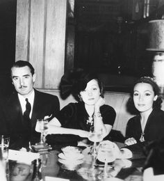 John Gilbert, Marlene Dietrich and Dolores del Rio, 1930s