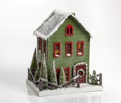 Green Christmas Cottage