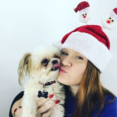 That moment when D gets excited to #film with me! #youtube #youtuber #christmas  #puppylove