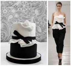 Fashion cake black and white