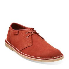 Jink in Brick Red Suede - Mens Shoes from Clarks