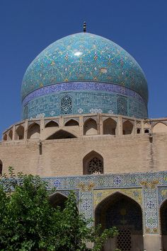 Dome, Shah Mosque, Naghsh-i Jahan Square, Isfahan, Iran. Renamed to Imam Mosque after Islamic Revolution.