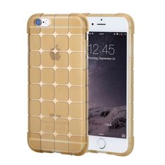 [$2.47] Rock Magic Cube Series for iPhone 6 & 6s Transparent Soft TPU Protective Back Case(Gold)