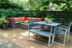 Just because you live in a city doesn't mean you can't have a great patio space. This one is in Philadelphia and was designed by Livable Landscapes.