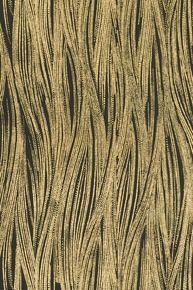 CURRENTS WALLPAPER IN EBONY/GOLD #kellywearstler #wallpaper #design