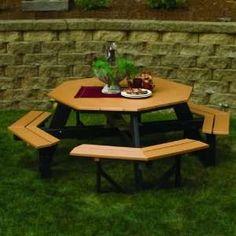 Berlin Gardens Collection Octagon Picnic Table Patio, Lawn & Garden