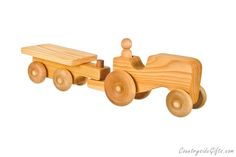 Our Natural Organic Wooden Toy Farm Tractor with Cart is designed and made in the USA by Countryside Gifts LLC and is lovingly handcrafted one at a time using the finest grade woods and materials. …