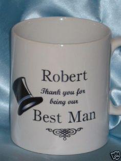 Personalised Wedding Gift Mug, Best Man, Usher,Page Boy | eBay