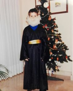 Today in Spain we celebrate the epiphany or also known as 'The Three Wise Men'. These men (Reyes Magos in Spanish) bring presents to the kids. So basically if we follow the traditional Spanish way Santa Claus doesn't bring us presents just these camel riding men. Here I was about 9 years old dressed up as Melchior (one of them). Others too are called Caspar and Balthazar. Interesting huh?