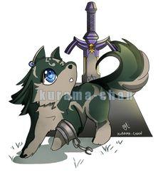 -- Commission : Chibi Wolf Link -- by Kurama-chan