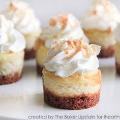 Mini Coconut Cheesecakes I Heart Nap Time | I Heart Nap Time - Easy recipes, DIY crafts, Homemaking