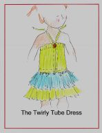 Several Sewing Patterns including this Twirly Tube Dress for Les Cheries, but should fit Betsy McCall, Hearts for Hearts, Paola Reina. No Pattern Dress. PDF instructions included.