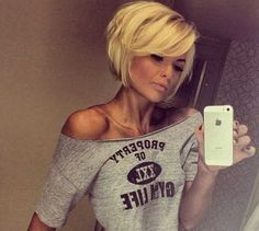 Would love to cut my hair like this if I had the guts to do bangs. Plus her hair looks really thick.