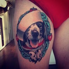 Emily Rose Murray - Sailor Dog Portrait Tattoo-cute - This would be cute with Sprite