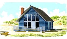 Elevation of Contemporary   Narrow Lot   House Plan 94872