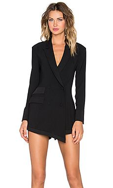 $260.NBD Business Caj Romper in Black